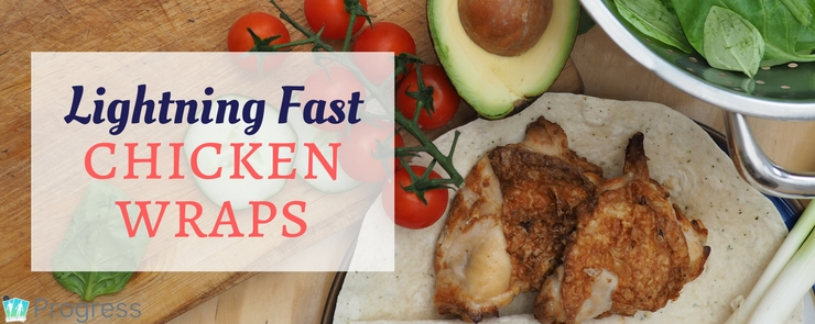 Quick and easy lunch that's healthy too - the perfect cold chicken wrap