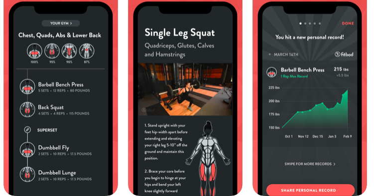 ©Fitbod: workout plans - health & fitness app