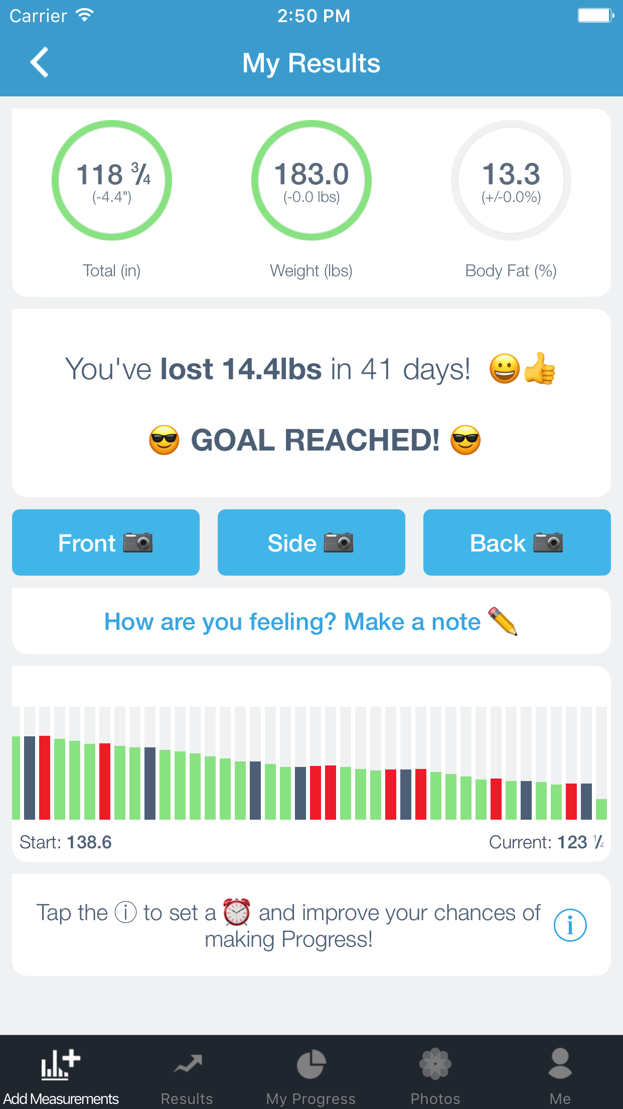 Progress - Body Measurements, Weight & Photo Tracker